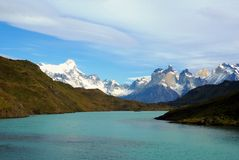 Landskap - Torres del Paine, Patagonia, Chile Arkivfoto