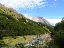Landskap - Torres del Paine, Patagonia, Chile Royaltyfria Foton