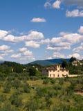 landskap tuscan Royaltyfria Bilder