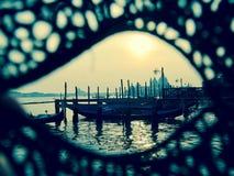 Landskap Venedig Italien Fotografering för Bildbyråer