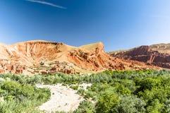 Landskap vid Tinghir i Marocko royaltyfri bild