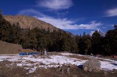 Landskap-Xiv för vinterKuari passerande Arkivbild