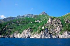 LandskapAmalfi kust, Italien. Arkivfoton