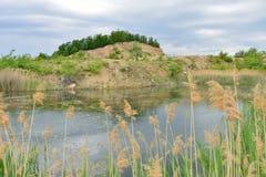 Landskaparround den blåa lagun sjön Arkivbilder