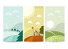 Landskapbanermall vektor illustrationer