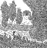 Landskapbild Arkivfoto