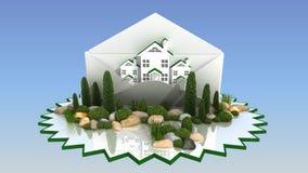Landskapdesign Arkivfoto