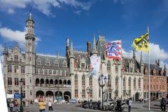 Landskapdomstol Bruges Belgien Arkivbild