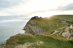 Landskape океана от скал Стоковое Изображение
