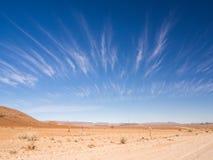 Landskape on the Namib Dester, Namibia. Wide angle Royalty Free Stock Photos