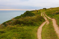 Landskape, seascape as seen from the cliff near Dover Cliffs Stock Photo