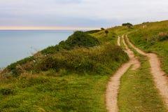 Landskape seascape som sett från klippan nära Dover Cliffs Arkivfoto