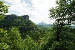 Landskapet av bohemmet Schweiz Royaltyfria Foton