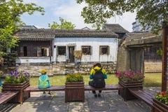 Landskapet av den forntida staden för nanxun i huzhou, zhejiang landskap royaltyfri foto