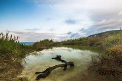 Landskapet av fjärden av Inal Arkivfoto