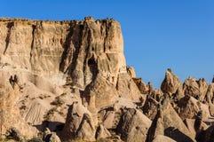 Landskapet av naturligt vaggar bildandefantasi eller den Devrent dalen, Cappadocia, Goreme, Turkiet arkivfoto