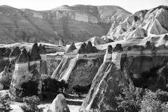 Landskapet av naturligt vaggar bildandefantasi eller den Devrent dalen, Cappadocia, Goreme, Turkiet fotografering för bildbyråer