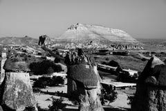Landskapet av naturligt vaggar bildandefantasi eller den Devrent dalen, Cappadocia, Goreme, Turkiet royaltyfria bilder
