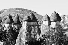 Landskapet av naturligt vaggar bildandefantasi eller den Devrent dalen, Cappadocia, Goreme, Turkiet arkivbild
