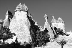 Landskapet av naturligt vaggar bildandefantasi eller den Devrent dalen, Cappadocia, Goreme, Turkiet royaltyfri foto