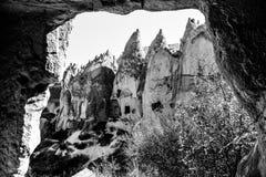 Landskapet av naturligt vaggar bildandefantasi eller den Devrent dalen, Cappadocia, Goreme, Turkiet royaltyfri bild
