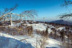 Landskapet av is och snövärlden Arkivbilder