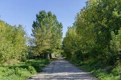 Landskapet av parkerar vid den Beli Lom floden på Razgrad Royaltyfri Fotografi