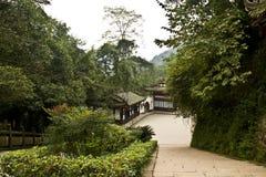 Landskapet av qingchengberget Arkivbild