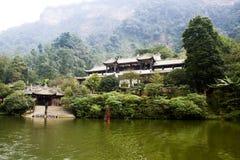 Landskapet av qingchengberget Royaltyfri Fotografi