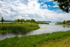 Landskapet av Taihu sjön royaltyfri foto