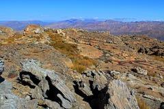 Landskapet av wolfberg knäcker i Cederbergen, Sydafrika. Arkivfoton