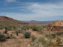 Landskapet nära himmel går, Grand Canyon Royaltyfria Foton