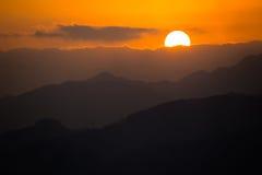 Landskapet på solnedgången Arkivbild