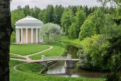 Landskapet parkerar i förorterna av St Petersburg - Pavlovsk royaltyfri fotografi