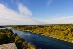 Landskapet shooten från Levensauer den höga bron Royaltyfria Foton