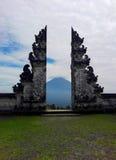 Landskapet till den Agung vulkan Arkivfoton