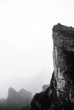 Landskapet under det Tianmenshan berget Royaltyfria Bilder
