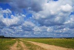 Landskapfält royaltyfri fotografi
