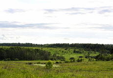 Landskapfält Fotografering för Bildbyråer