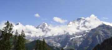 Landskapfjälläng Schweiz Fotografering för Bildbyråer