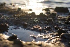 Landskapfoto, det härliga fallande vattnet arkivbild