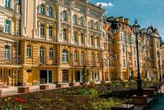 Landskapgata i Kiev, Ukraina Royaltyfri Foto
