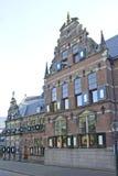 Landskaphus i stad av Groningen, Holland royaltyfri fotografi