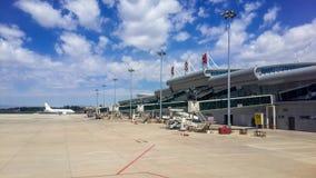 Landskapkategorier: Baotou flygplatsterminal Royaltyfria Bilder