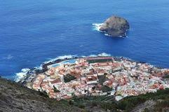 Landskaplandskap av Garachico, Tenerife Arkivbild