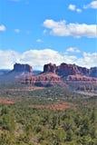 Landskaplandskap, mellanstatliga 17, Phoenix till flaggstången, Arizona, Förenta staterna royaltyfri fotografi