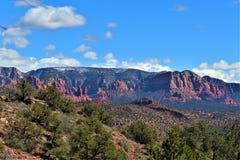 Landskaplandskap, mellanstatliga 17, Phoenix till flaggstången, Arizona, Förenta staterna royaltyfria foton