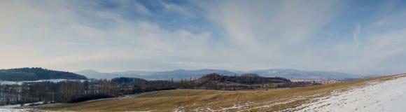Landskappanorama av fältet royaltyfria foton