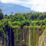 Landskappanoramasikt av fältet på berget Royaltyfria Bilder