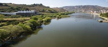 LandskapPeso da Regua Portugal Arkivbilder